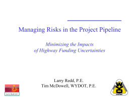 Managing Risks in the Project Pipeline