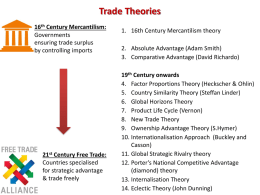Trade Theories - WordPress.com