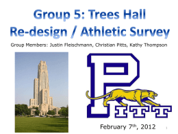 PowerPoint for Proposal - University of Pittsburgh