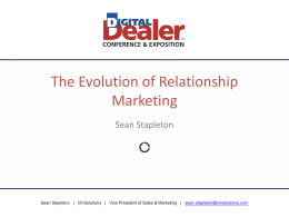 Sean Stapleton - 18th Digital Dealer Conference & Exposition