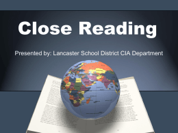 Close Reading Presentation