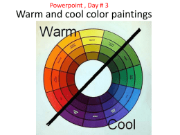 Warm and cool color paintings