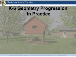 K-6 Geometry Progression in Practice
