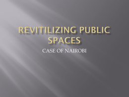 revitilizing public spaces