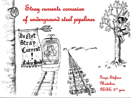 Corrosion effects of stray currents on underground steel pipelines