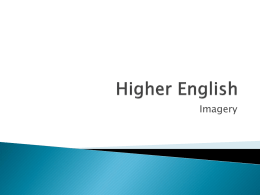 Higher English Imagery