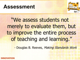 Assessment - Dallas Independent School District