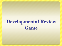 Development Review Game