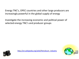 LESSON 8 Oil companies - SLC Geog A Level Blog