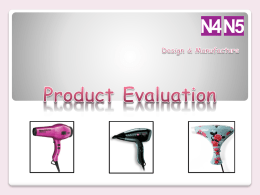 Product Evaluation
