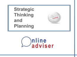 Online-Adviser-Presentation-Strategic-Thinking