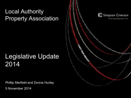 Property Legislative Update 2014