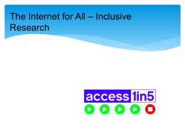 InclusiveResearch – Slides from NZIRF 9/2/15