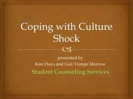 Coping with Culture Shock (Handout)
