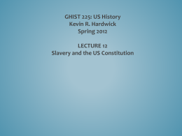 PP 12 Slavery and the Constitution