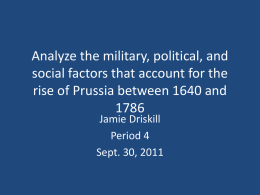Analyze the military, political, and social factors that account for the