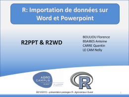 R2ppt&R2wd - Agrocampus Ouest