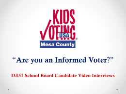Kids Voting Mesa County - Grand Junction High School