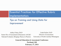 Presenting, Analyzing, and Using Date for Improvement of Student