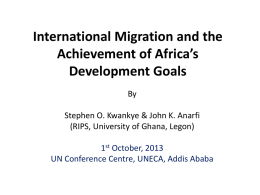 International Migration - United Nations Economic Commission for
