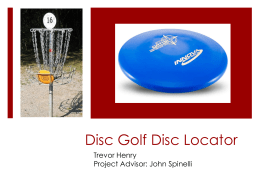 Disc Golf Disc Locator