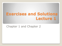 Ch 1 & Ch 2 exercise