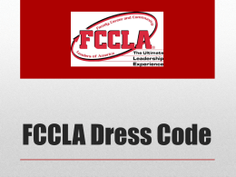 FCCLA-Dress-Code-PowerPoint - WA