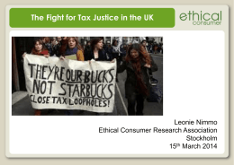 Ethical Consumer Research Association