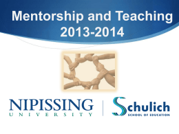 Mentorship and Teaching 2013-2014