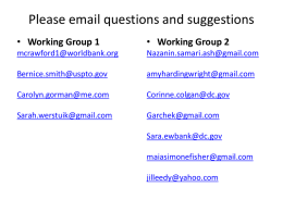 Working Group emails - Brent Elementary Website