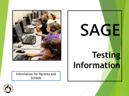 SAGE_Testing-Information-Session