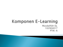 ppt 5 komponen e-learning