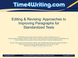 Tip #3 - Time4Writing