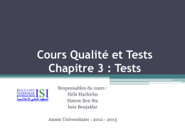 Tests - ISI LA3SIL