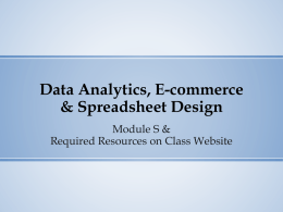 Spreadsheet Design Activities slides