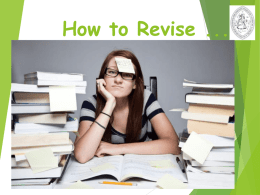 How to Revise - Richmond School