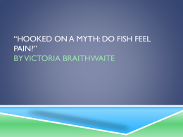 *Hooked on a myth: do fish feel pain?* by Victoria Braithwaite