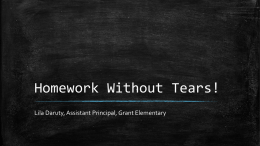 Homework Without Tears!