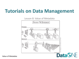 Value of Metadata