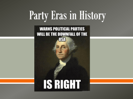 Party Eras in History