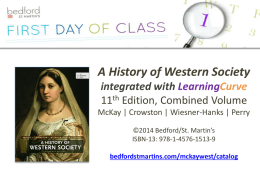 the e-Book to Go for A History of Western Society, 11e, Combined Vol.!