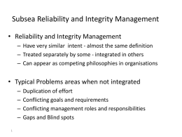 Subsea Reliability and Integrity Management-2