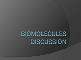 Biomolecules PPT