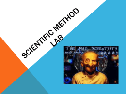 Scientific Method Lab