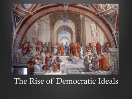 Unit 1 Lesson 14 Rise of Democratic Ideals