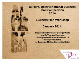 Al Fikra 2014 Business Plan Workshop