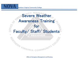 Severe Weather - Northern Virginia Community College
