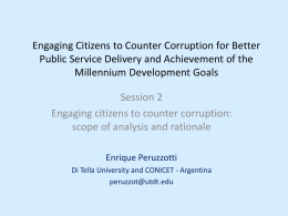 Engaging citizens to counter corruption