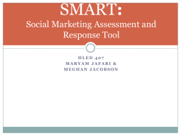 Social Marketing Assessment and Response Tool