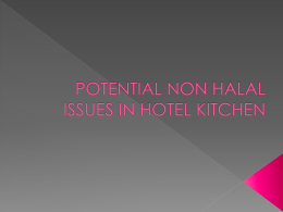 the potential of non halal issue in hotel kitchen